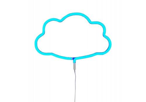 Neon light cloud blue