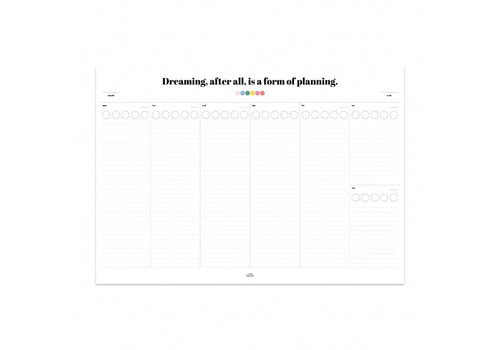 Sticker deskplanner