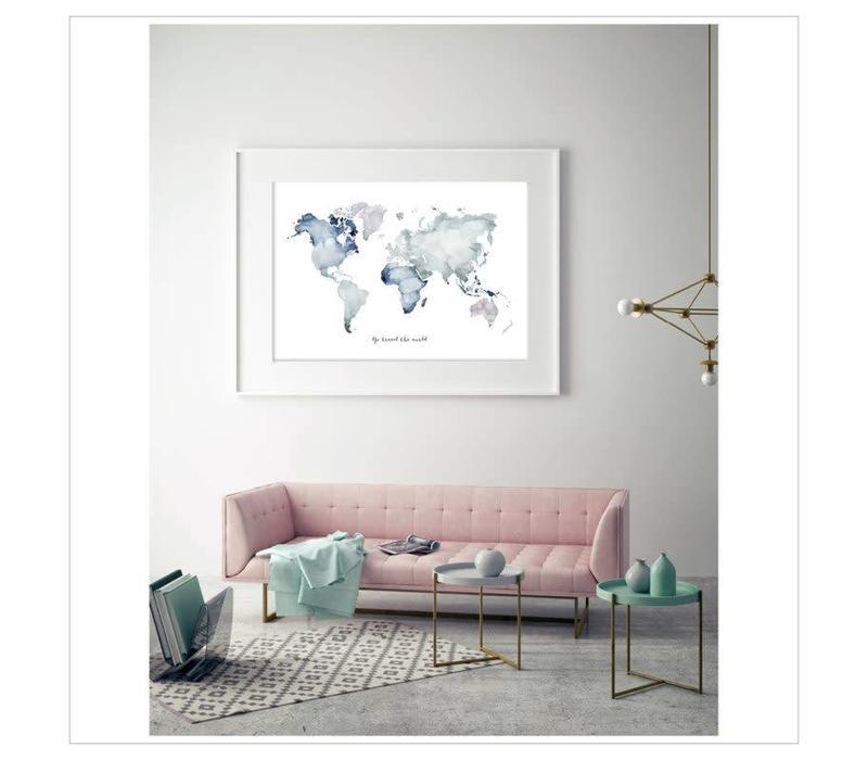 Artprint 50x70 - Go travel the world