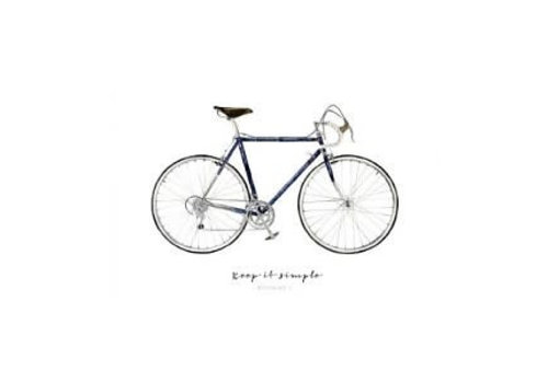 Leo La Douce Artprint A4 - Keep it simple - Bicycle No.1