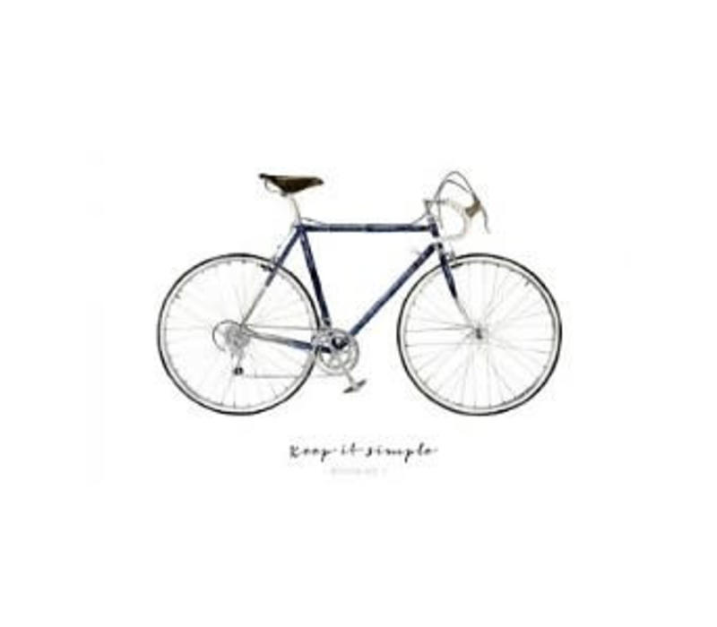 Artprint A4 - Keep it simple - Bicycle No.1