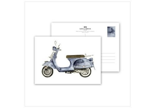 Leo La Douce Artprint A4 - Blue Scooter