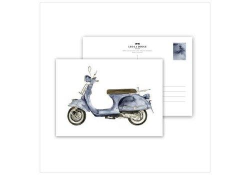 Leo La Douce Artprint A3 - Blue Scooter
