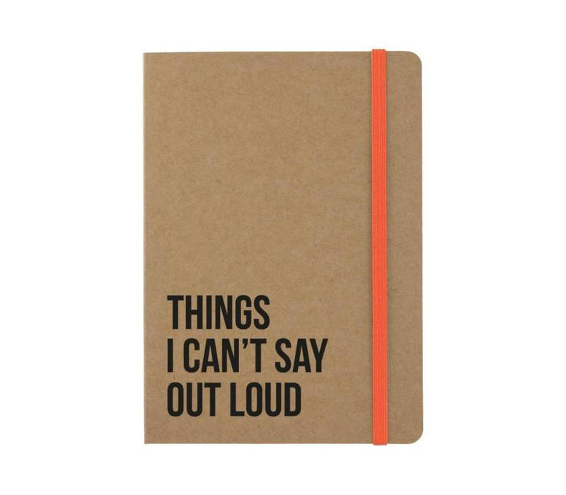 Notitieboekje Things I can't say out loud Kraft