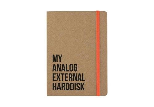 Beezonder Notitieboekje Analog external harddisk Kraft