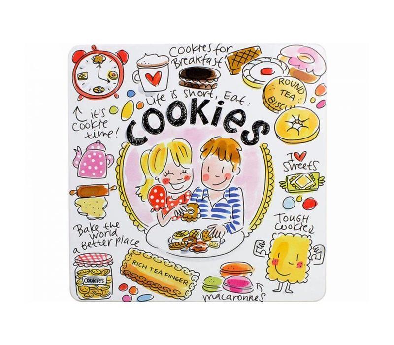 Blik vierkant cookies