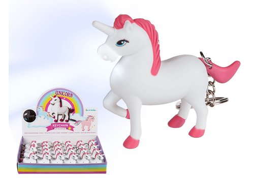 Sleutelhanger Unicorn met geluid