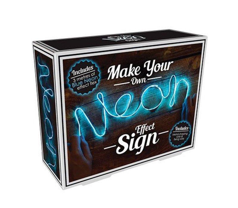 DIY Neon sign blauw