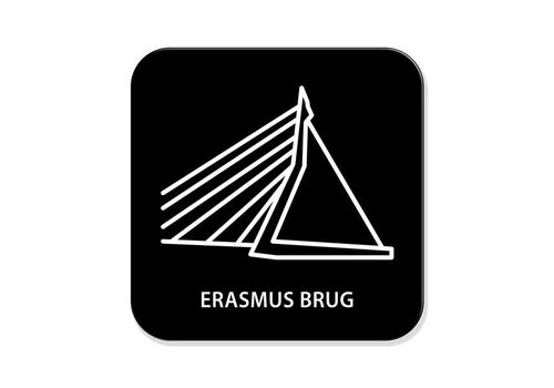 Onderzetter- Erasmusbrug