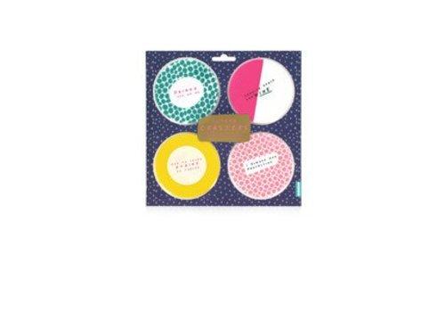 Cortina Notes to self - Slogan Coasters