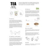 Wenskaart met verse thee