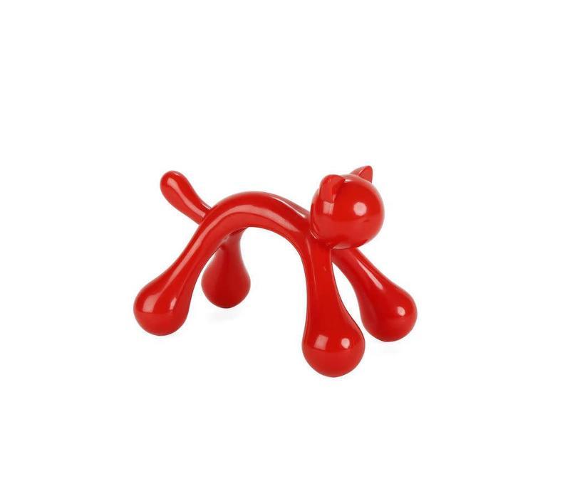 Cat massager red