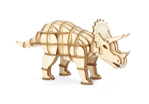 Kikkerland 3D Triceratops wooden puzzle