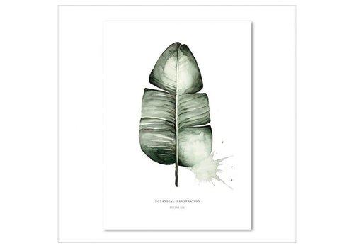 Leo La Douce Artprint A3 - Banana leaf