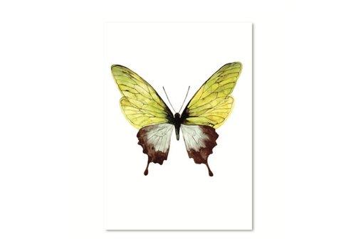 Leo La Douce Artprint A3 - Green Butterfly