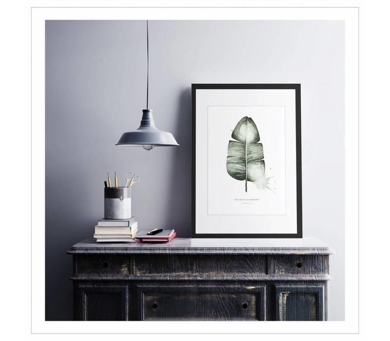Artprint A4 - Banana leaf