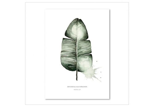 Leo La Douce Artprint A4 - Banana leaf