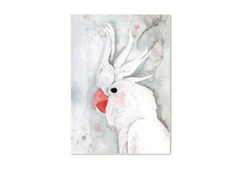 Leo La Douce Artprint A4 - White Kakadu