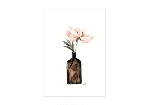 Leo La Douce Artprint A4 - Coral Blossom