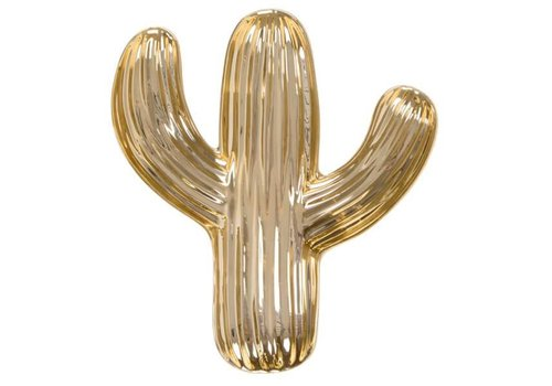 Sass & Belle Gold cactus shaped trinket dish