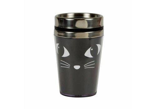 Sass & Belle Black cat travel mug