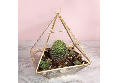 Sass & Belle Brass pyramid terrarium