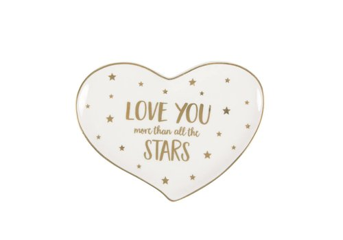 Sass & Belle Modern monochrome love you stars trinket dish