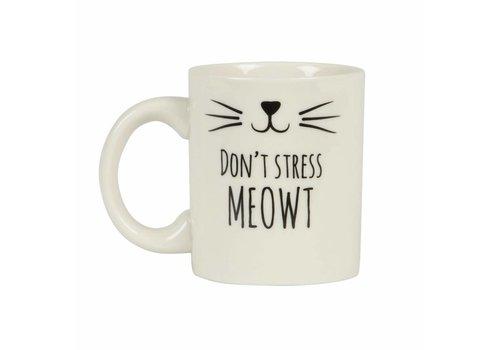 Sass & Belle Cat's whiskers don't stress mug