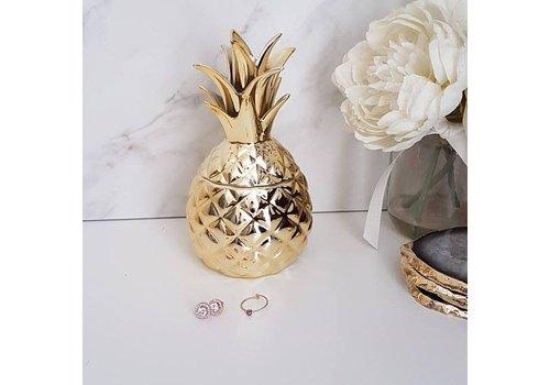Sass & Belle Gold pineapple trinket box