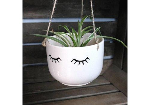 Sass & Belle Eyes shut hanging planter