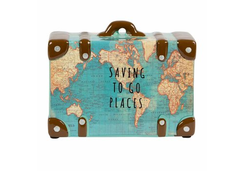 Sass & Belle Saving to go places vintage map money pot