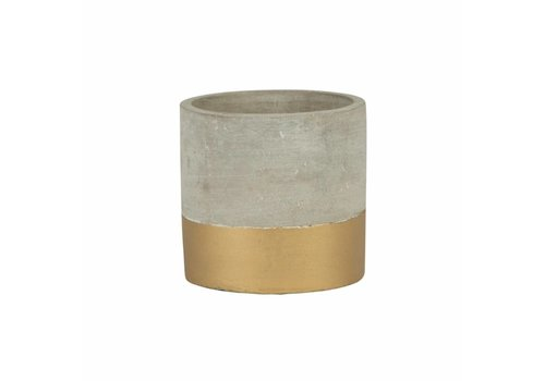 Sass & Belle Tuva gold dip cement mini planter
