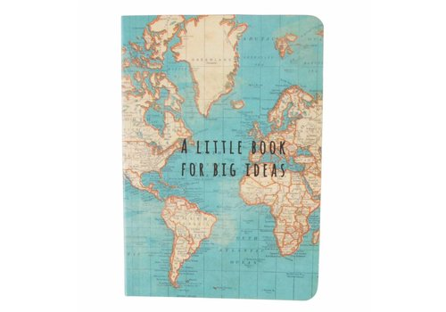 Sass & Belle Vintage map big ideas pocket notebook