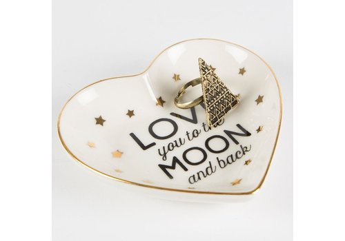Sass & Belle Love you to the moon & back jewellery dish