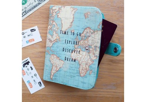 Sass & Belle Vintage map time to go passport holder