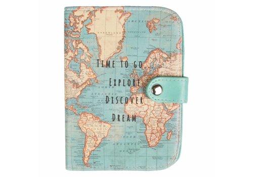Sass & Belle Vintage map time to go passport holder