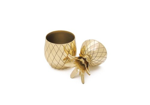 MOX studio Pineapple tumbler 12 oz gold