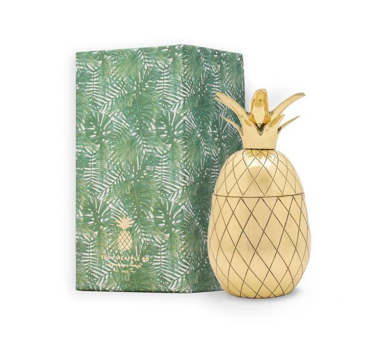 Pineapple tumbler 12 oz gold