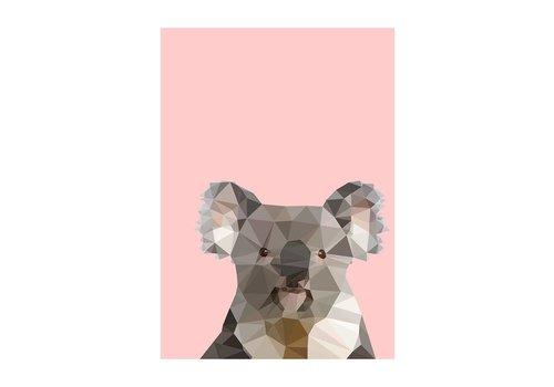 East End Prints Geo Koala A3