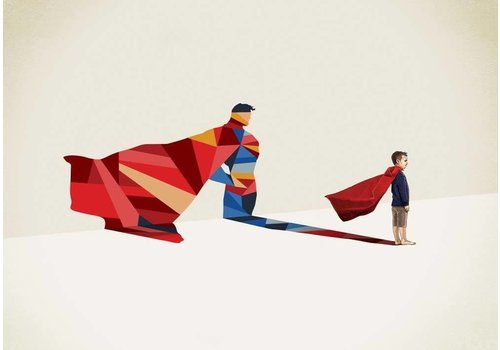 East End Prints Superman A3