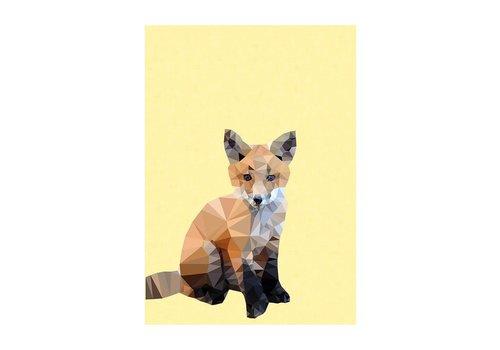 East End Prints Woodland Fox A3
