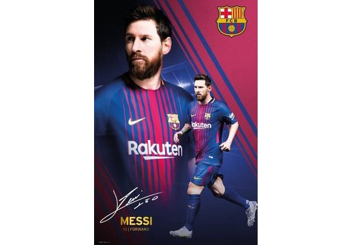 BARCELONA MESSI COLLAGE 17/18
