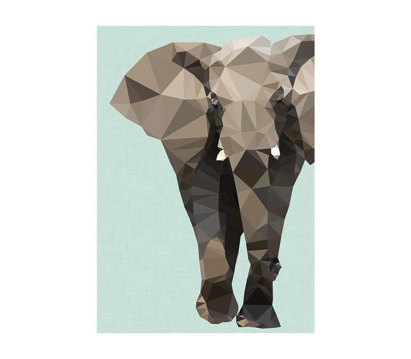 Wenskaart Elephant