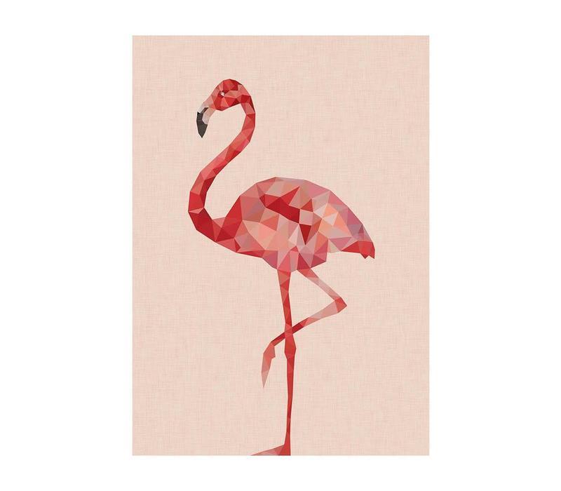 Wenskaart Flamingo