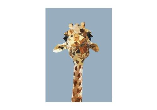 East End Prints Wenskaart Giraffe