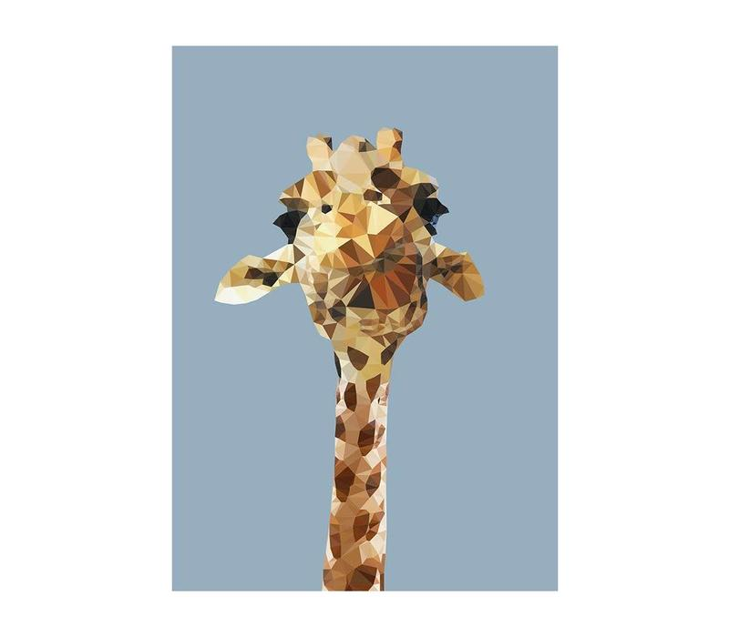 Wenskaart Giraffe