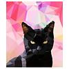 East End Prints Wenskaart Black cat