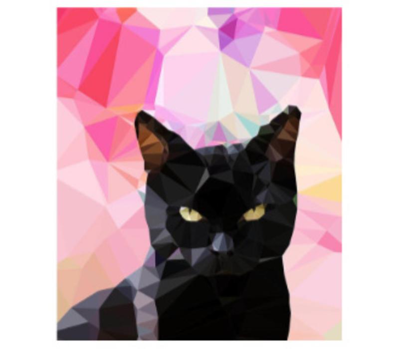 Wenskaart Black cat