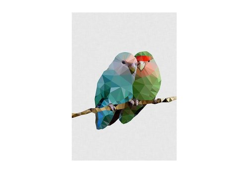 East End Prints Wenskaart Two Lovebirds