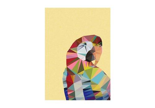 East End Prints Wenskaart papegaai